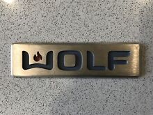 New WOLF Brand Nameplate Emblem w  Adhesive Label   for stove oven range hood