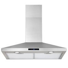36 inch Island Mount Stainless Steel Kitchen Range Hood 870CFM Touch Control