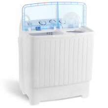 Portable Mini Washing Machine 17 6LBS Compact Twin Tub Laundry Washer Spin Dryer