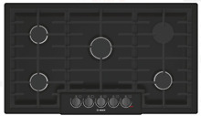 Bosch 800 Series NGM8646UC 36  Gas Cooktop with Sealed Burners in Black