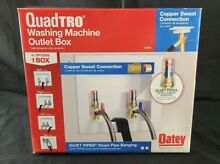 Oatey 38569 Quadtro Washing Machine Outlet Box Copper Sweat Tail Piece