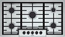 Bosch 500 Series 36  5 Sealed Burners Stainless Steel Gas Cooktop NGM5656UC