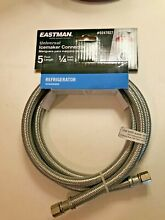 Eastman 1 4  5 ft Ice Maker Connector Hose   Stainless Steel   0247027