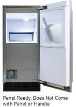Sub Zero UC15IPO 15 Inch Panel Ready Built in Outdoor Ice Maker 25 lbs  Storage