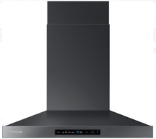 Samsung NK30K7000WG 30   Wall Mount Chimney Range Hood Black Stainless Steel