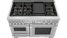 Thermador 48  Pro Grand Commercial Depth Dual Fuel Steam Range PRD48WDSGU