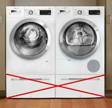 Bosch 800 Series WHT Wifi Capablitiy Washer   Dryer Set WAW285H2UC   WTG865H2UC