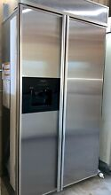 42  Stainless KitchenAid Side   Side Refrigerator Ice Water In Door Pick Up Only