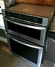 30  Stainless Steel KitchenAid Wall Mounted Oven Microwave Combo   KEMS309BSS01
