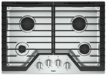 Whirlpool WCG55US0HS 30 Inch Gas Cooktop with 4 Sealed Burners