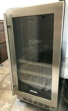 Glass Door  Titan 15 inch 23 bottle wine cooler  TT CWC1523DZ    Fits Equivalent