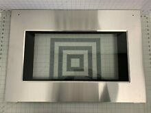 Kenmore Range Oven Door Outer Glass Stainless Steel Lower Panel  318344004