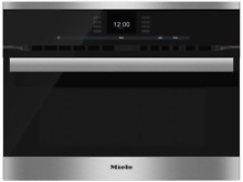 Miele H6600BMSS SensorTronic Series 24 Inch Electric Single Wall Oven Convection