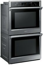 SAMSUNG 30  W Electric Convection   Steam Cook Double Wall Oven NV51K6650DS  NEW
