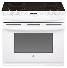 GE 30  W 4 Element 4 4 cu ft Self Cleaning Drop in Electric Range JD630DFWW  NEW
