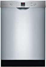 Bosch SHEM3AY55N 100 Series 24 Inch Full Console Built In Dishwasher Stainless