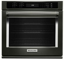 KitchenAid KOSE500EBS 30 in Self Cleaning Convection Single Electric Wall Oven