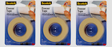 Scotch 178 Freezer Tape 3 4  x 1000 Inches Microwave Safe Labeling Pack of 3