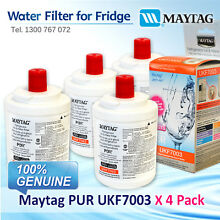 4x Maytag PUR UKF7003 Fridge Water Filter UKF7003AXX 100  GENUINE BRAND AU POST
