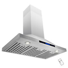 36  STAINLESS STEEL VERY POWERFUL WALL MOUNTED RANGE HOOD FAN METAL BLADES