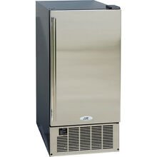 50 lb Built In Undercounter   Portable Clear Ice Maker Machine w  SS Silver Door