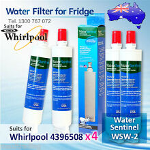 4X Water Sentinel WSW 2 Replacement Fridge Filter for Whirlpool 4396508