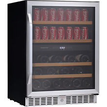 24  Built In Wine Cooler Refrigerator   Beverage Fridge w  Stainless Steel Door