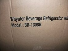 Whynter BR 130SB Beverage Refrigerator  Stainless Steel   Local PU in NJ