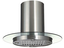 New  36  Stainless Steel Island Range Hood with Baffle Filter  K 1010B