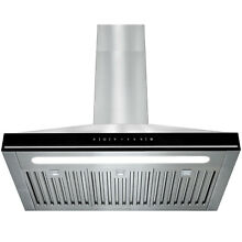 30 Touch Screen Display LED Light Stainless Steel Wall Mount Range Hood