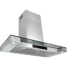 36  Stainless Steel Touch Screen Display LED Light Lamp Wall Mount Range Hood