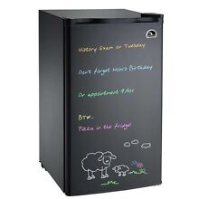 3 2 cu ft Igloo Mini Fridge Eraser Board Refrigerator FR326  Black   Refurbished