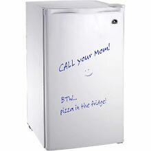 Igloo 3 2 Cu Ft Erase Board Refrigerator   Freezer  White  FR326   Refurbished