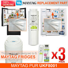 3 x Amana Maytag PuriClean II UKF8001AXX UKF8001 Fridge Filter