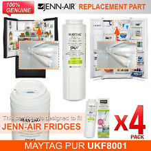 4x Genuine  JENNAIR GENUINE UKF8001AXX INTERNAL FRIDGE WATER FILTER