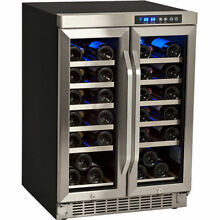 Undercounter French Door Wine Cooler Refrigerator   Dual Zone Built In Fridge