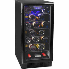 30 Bottle Undercounter Wine Refrigerator  Slim   Compact Built In Cooler Fridge