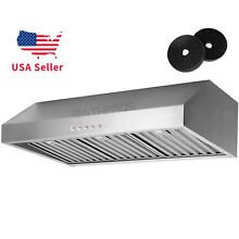 36 Inch Range Hood Kitchen Nice Stainless Steel Under Cabinet Stove Cook Fan