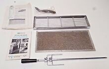 JENN AIR RANGE OWNERS MANUAL ROTISSERIE SPEAR FILTER BRACKET CHROME GRILL