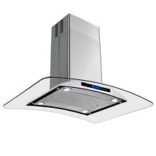 36  Island Range Hood Removable Grease Filter Kitchen Fan