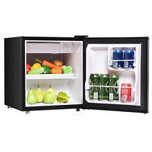 1 7 cu  ft  Mini Stainless Steel Refrigerator Compact Internal Freezer Office V