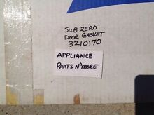 SUB ZERO OEM REFRIGERATOR WHITE DOOR GASKET PART  3210170 FREE SHIPPING NEW PART