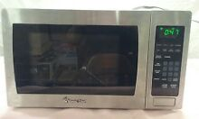 Used Magic Chef MCM990ST 900w Countertop Microwave Oven stainless steel  E05