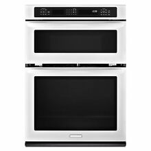 KitchenAid KEMS309BWH 30  Convection Electric Pyro Combo Oven  White   NEW