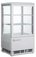 EQ White Commercial Refrigerated Display Case Glass Beverage  16 85x15 2x31 89