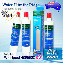 3X Water Sentinel WSW 2 Replacement Fridge Filter for Whirlpool 4396508