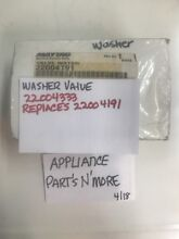 MAYTAG WASHER WATER INLET VALVE 22004333 REPLACES 22004191 FREE SHIPPING