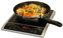 Black Induction Grill Compact Adjust Temp Cook Roast Warming Hot Plate Dorm Camp