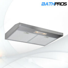 Kitchen 30  Range Hood Under Cabinet Full Stainless Steel LED Baffle Top Vented