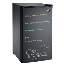 Refurbished IGLOO 3 2 cu ft Eraser Board Mini Fridge Refrigerator  Black   FR326